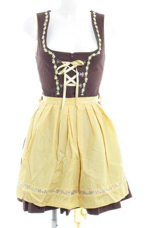 Stockerpoint Dirndl braun-gelb klassischer Stil