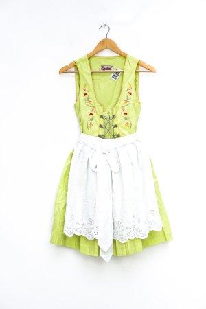Stockerpoint Vestido Dirndl blanco-verde pradera