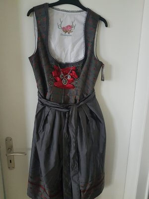 Stockerpoint Dirndl anthracite-dark red