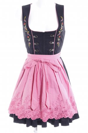 Stockerpoint Dirndl schwarz-pink Romantik-Look