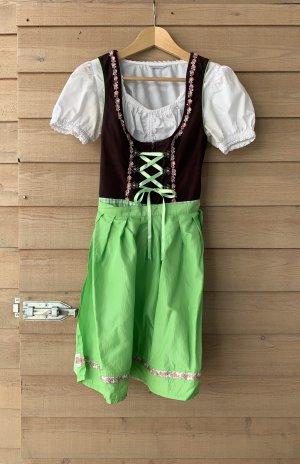 Stockerpoint Dirndl Tracht Kleid Damen S 36 Braun Grün