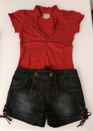 Stockerpoint Trachten T-Shirt rot bestickt 36/S