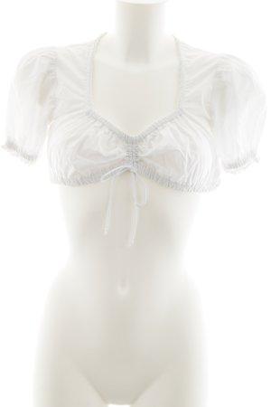 Stockerpoint Folkloristische blouse wit klassieke stijl