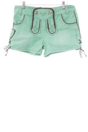 Stockerpoint Trachtenhose grün-braun abstraktes Muster Casual-Look
