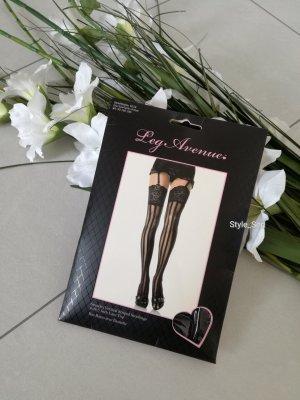 Stockings mit Längsstreifen halterlose Strümpfe