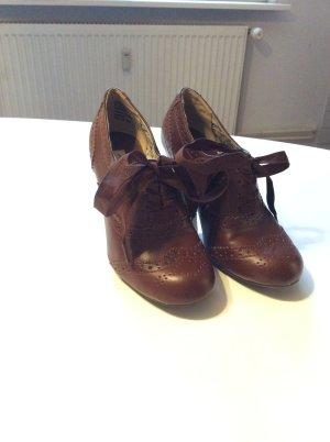 Stöckelschuhe braun zum Schnüren American Eagel Größe 35,5 / 36 Budapester Stil