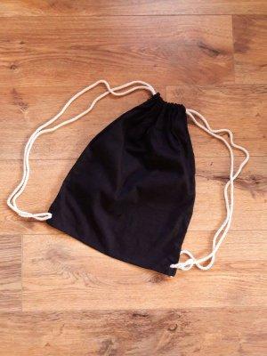 Stoff Beutel Rucksack Tasche schwarz