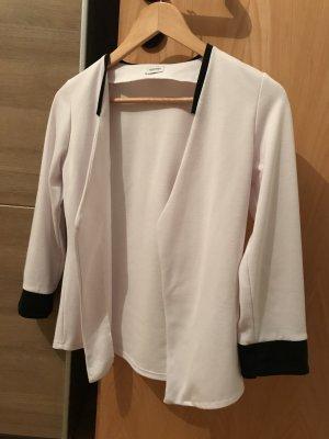 Makadamia Sweat Blazer white-black