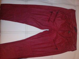 Guess Pantalone jersey rosso scuro-carminio