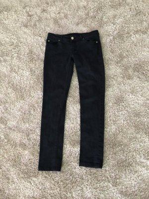 Zara Basic Pantalone boyfriend blu scuro