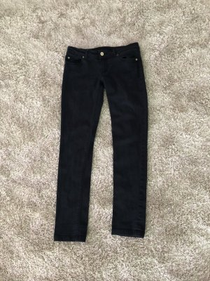 Stoff Hose Jeans Look Röhren Gr 36 S Zara