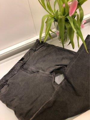 Stoff Jeans grau