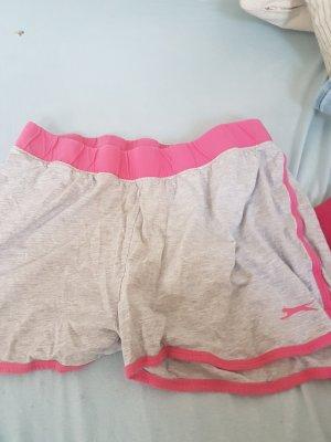 stoff kurze Hose Farbe pink grau Größe XL