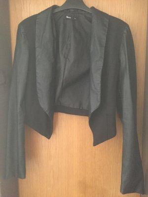 Stoff/Leder Blazer in einem tollen Schnitt