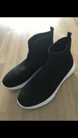 Zalando Slip-on Sneakers black-white