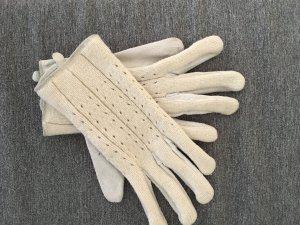 Stoff und Lederhandschuhe