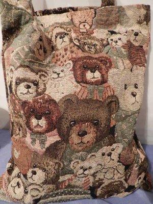 Stoffbeutel Einkaufstasche Gobelintasche Teddy  40x30 Tragetasche