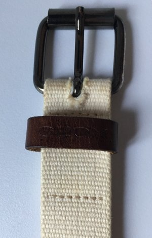 Geox Cintura in tessuto crema