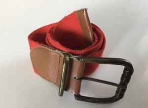 Cinturón de tela rojo-marrón