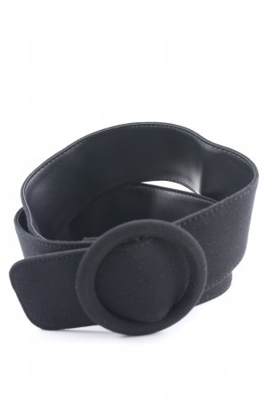 Cinturón de tela negro Estilo ciclista