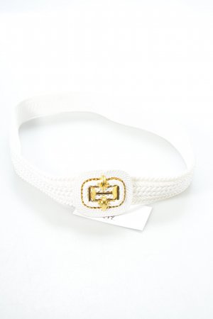 Fabric Belt white-gold-colored navy look