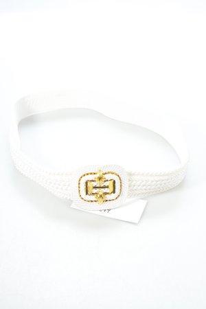 Stoffgürtel weiß-goldfarben Marine-Look
