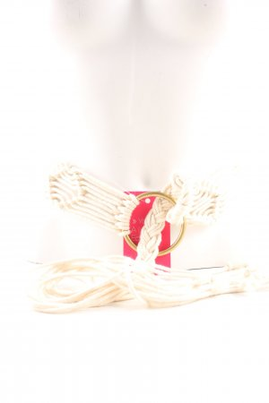 Cintura in tessuto bianco sporco-oro stile casual