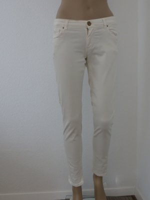 Zara Pantalon cigarette blanc