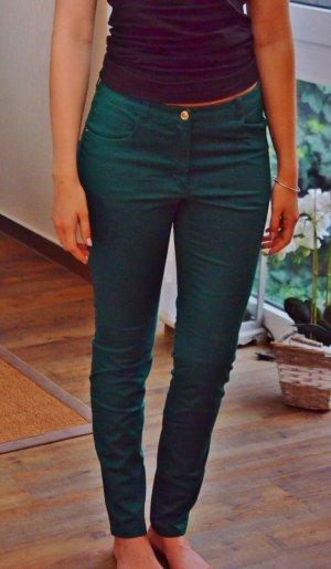 Stoffhose Business Klassisch Grün