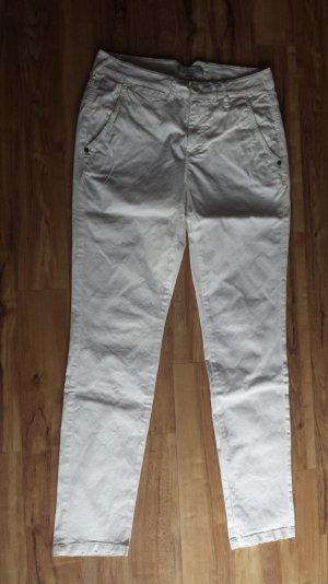 Stoffhose Chino in weiß