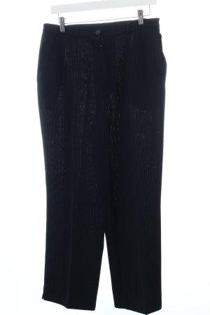 Stoffhose dunkelblau Streifenmuster Business-Look