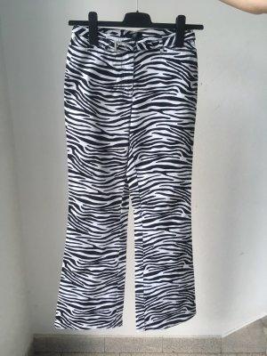 Apart Pantalon en jersey noir-blanc