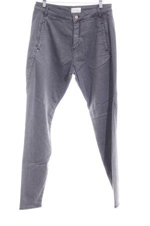 Pantalone jersey grigio stile casual