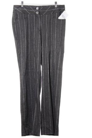 Jersey Pants grey-light grey striped pattern business style