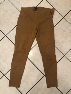 H&M Drainpipe Trousers gold orange-sand brown