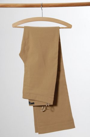 Hallhuber Stretch Trousers sand brown viscose