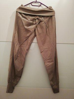 Pantalón estilo Harem marrón grisáceo