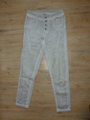 Made in Italy Pantalon en jersey gris clair coton
