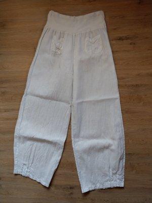 Made in Italy Linnen broek wit