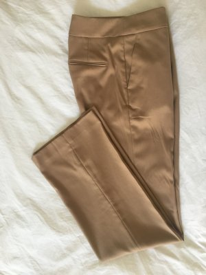 Stoffhose in camel highrise