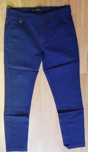 Stoffhose in dunkelblau