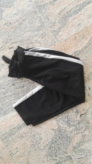 Pantalone jersey bianco-nero