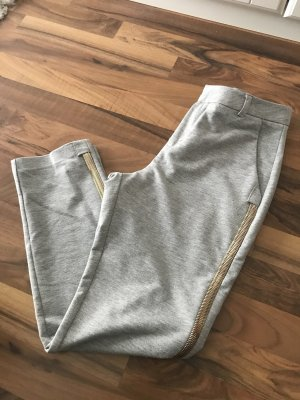 Waggon Pleated Trousers light grey-gold-colored
