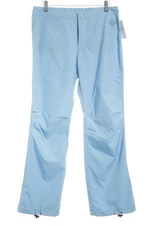 Stoffhose kornblumenblau sportlicher Stil