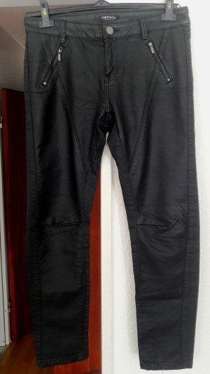 Morgan Pantalone in pelle nero Finta pelle