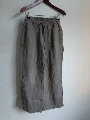 Backstage Linen Pants grey brown