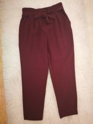 River Island Pantalone peg-top bordeaux