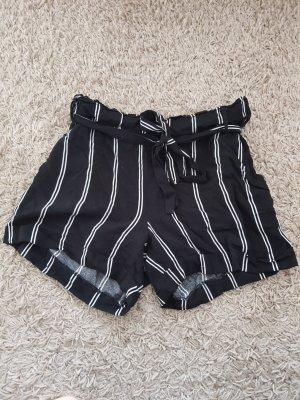 Colloseum High-Waist-Shorts white-black