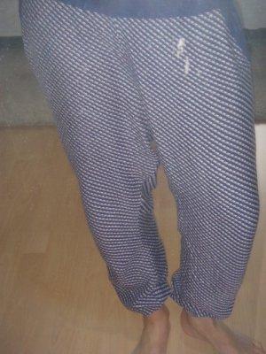 Stoffhose, Pyjama Style, reine Viskose, Oysho, blau weiß lila