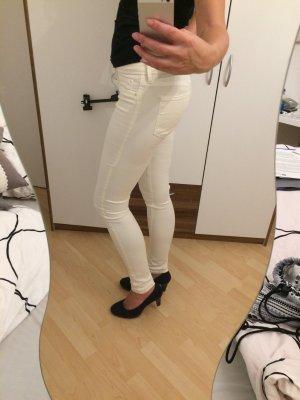 Tally Weijl Pantalone a sigaretta bianco sporco